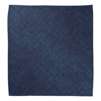 BRICK2黒い大理石及び青くグランジな(R) バンダナ