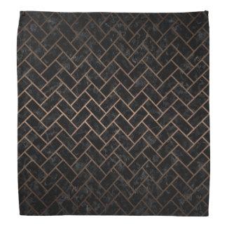 BRICK2黒い大理石及び青銅の金属 バンダナ
