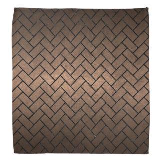 BRICK2黒い大理石及び青銅の金属(R) バンダナ
