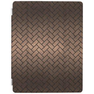 BRICK2黒い大理石及び青銅の金属(R) iPadスマートカバー