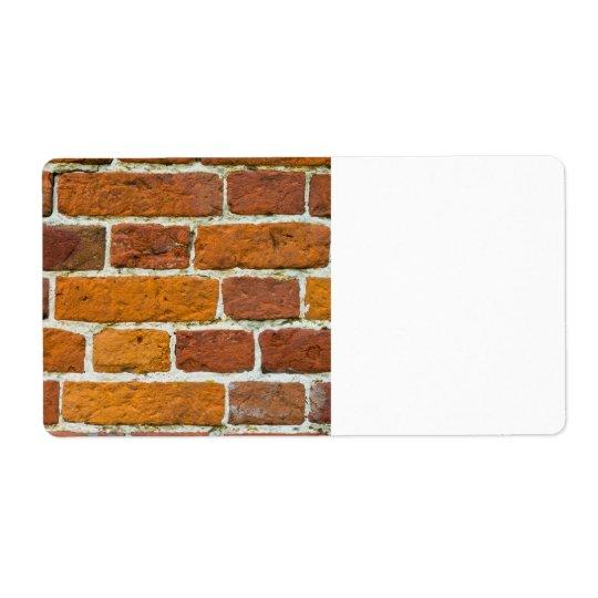 Brickwall 発送ラベル