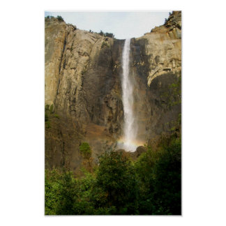 Bridalveilの滝にわたる虹 ポスター