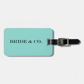 BRIDE & CO Teal Blue Travel Luggage Tag ラゲッジタグ