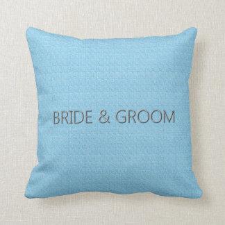 Bride_Groom_Baby-Blue* (c)の腰神経及び正方形のサイズ クッション