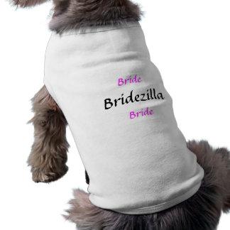Bridezillaの花嫁 犬用袖なしタンクトップ