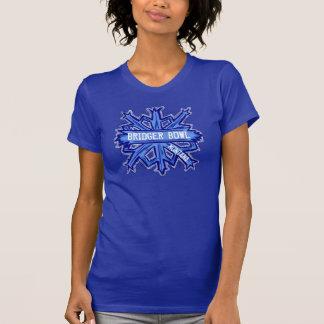 Bridgerボールのモンタナの冬の雪片のティー Tシャツ