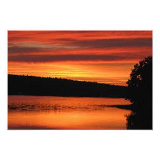 BridgeWaterノバスコシアの日没のプロフェッショナルの写真 フォトプリント