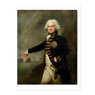Bridport (1727-1814年の) c.1795 (cの油海軍大将主 ポストカード
