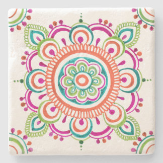 Bright Mexican lace floral design coaster ストーンコースター