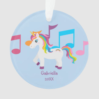 Bright Music Notes With Unicorn Ornament オーナメント