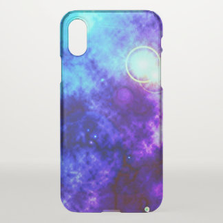 Bright Purple Space Diffuse Nebula and Supernova iPhone X ケース
