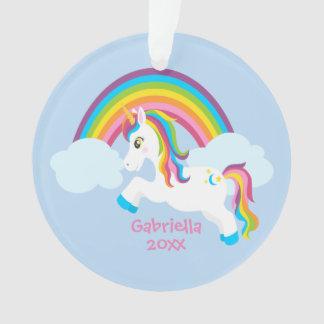 Bright Rainbow Unicorn Ornament オーナメント