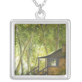 BRIGIDオーニールHOVEYによる湖の小屋 シルバープレートネックレス