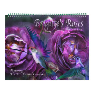 Brigitteのバラの芸術のカレンダー カレンダー