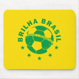 Brilhaブラジル-ブラジルのサッカー マウスパッド