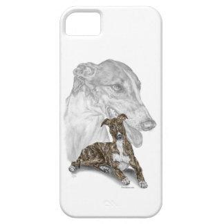 Brindleグレイハウンド犬の芸術 iPhone SE/5/5s ケース