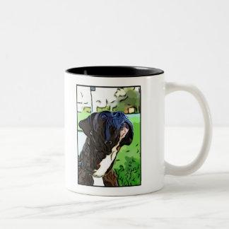 Brindleボクサーのマグ ツートーンマグカップ