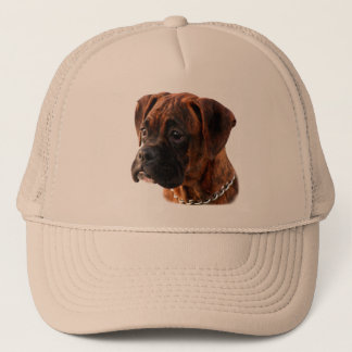 Brindleボクサーの子犬の帽子 キャップ