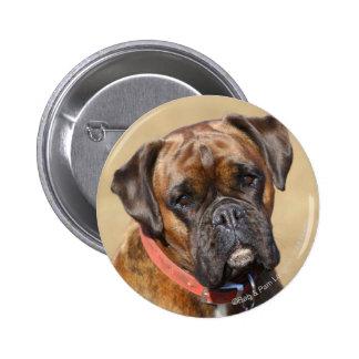 Brindleボクサー犬 5.7cm 丸型バッジ