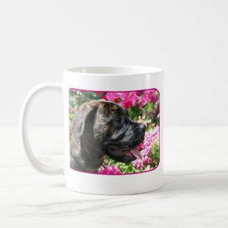 Brindleマスティフの子犬のマグ コーヒーマグカップ