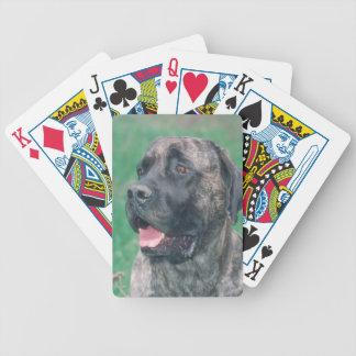 Brindleマスティフ犬のトランプ バイスクルトランプ