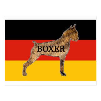 brindle旗のボクサーの一流のサイロ ポストカード