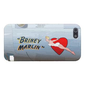 BrineyのマカジキB-24の鼻の芸術(ヴィンテージの胴体) iPhone SE/5/5sケース