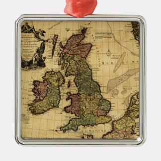 BritainPanoramic素晴らしいMapGreatのイギリス メタルオーナメント