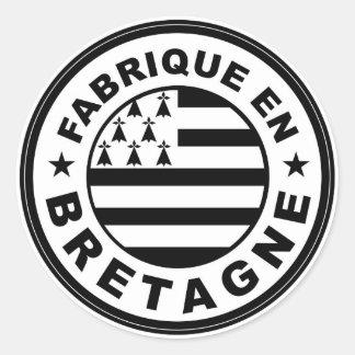 britanyフランスでなされるプロダクト国旗のラベル 丸型シール