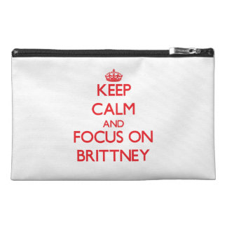 Brittneyの平静そして焦点を保って下さい トラベルアクセサリーバッグ