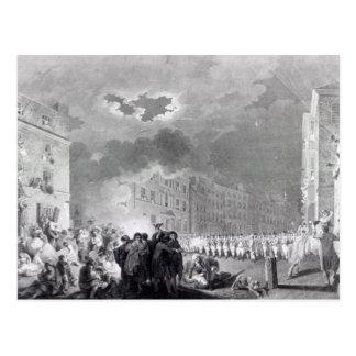 Broad Streetの暴動、1780年6月 ポストカード
