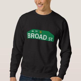 Broad Street、フィラデルヒィアのPAの道路標識 スウェットシャツ