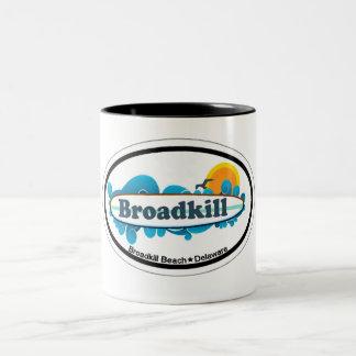 BroadkillのビーチDE. ツートーンマグカップ