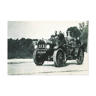 Brocktonの消防署-エンジン第1 キャンバスプリント