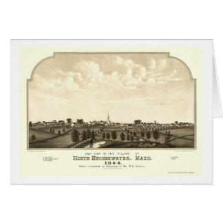 BrocktonのMAのパノラマ式の地図- 1844年 カード