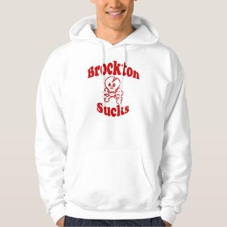 Brocktonは大きいスカルのフード付きスウェットシャツメンズを吸います パーカ