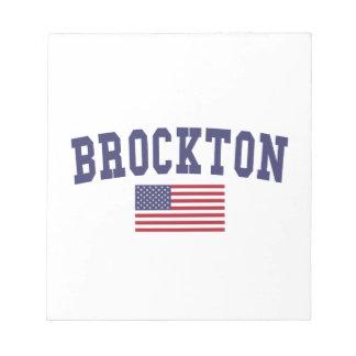 Brockton米国の旗 ノートパッド
