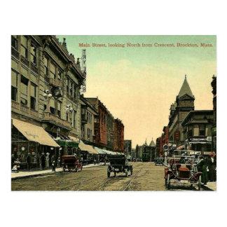 Brockton、マサチューセッツのヴィンテージの1910年の郵便はがき ポストカード