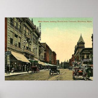 Brockton、マサチューセッツのヴィンテージ1910の写真 ポスター