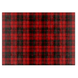 Brodieの一族のタータンチェックの赤く黒い格子縞 カッティングボード
