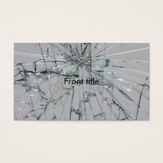 Broken Glass-Look 名刺