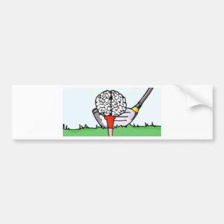 Brolf: 頭脳のゴルフ! バンパーステッカー