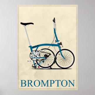 Bromptonの折るバイク ポスター
