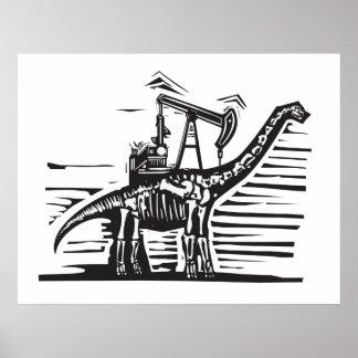 Brontosaurusの油井ポンプ ポスター