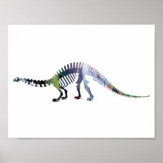 brontosaurusの骨組 ポスター