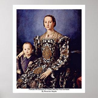Bronzinoアンジェロ著エレオノーラ・ディ・トレドのポートレート ポスター