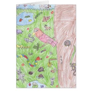 Brookeの動物の挨拶状の世界 カード