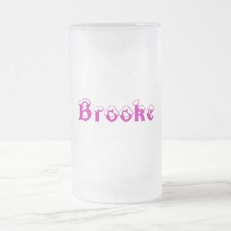 Brooke-の名前によってスタイル曇らされるマグ フロストグラスビールジョッキ