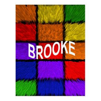 BROOKE (女性の名前) ポストカード