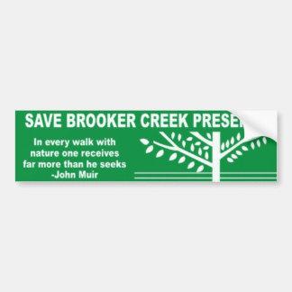 Brookerの入り江ジャムを救って下さい バンパーステッカー